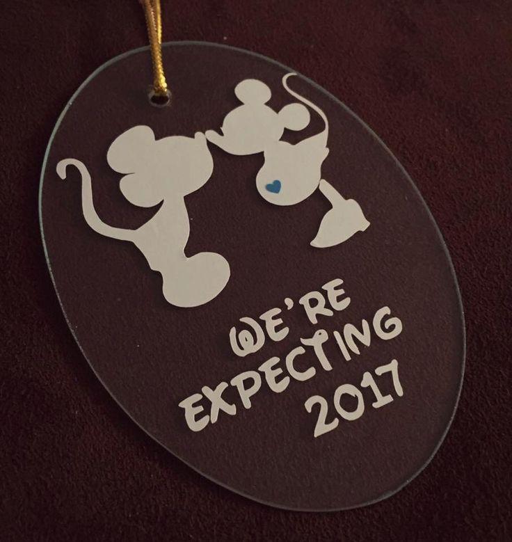 Disney Gender Reveal Ornament by ShopCraftyCreations on Etsy https://www.etsy.com/listing/462864522/disney-gender-reveal-ornament