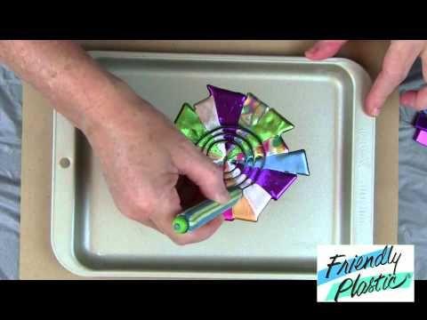 How to marbleize Friendly Plastic - the Pinwheel Technique