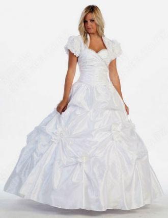 BallGown Sweetheart Taffeta Floor-length White Pick-Ups Quinceanera Dress