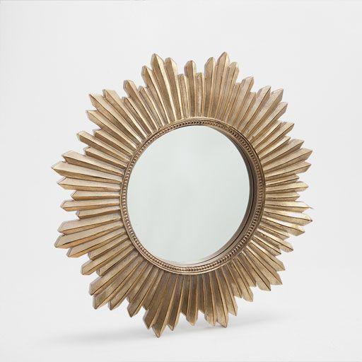 zarahome golden sun shaped mirror dekoration zara. Black Bedroom Furniture Sets. Home Design Ideas