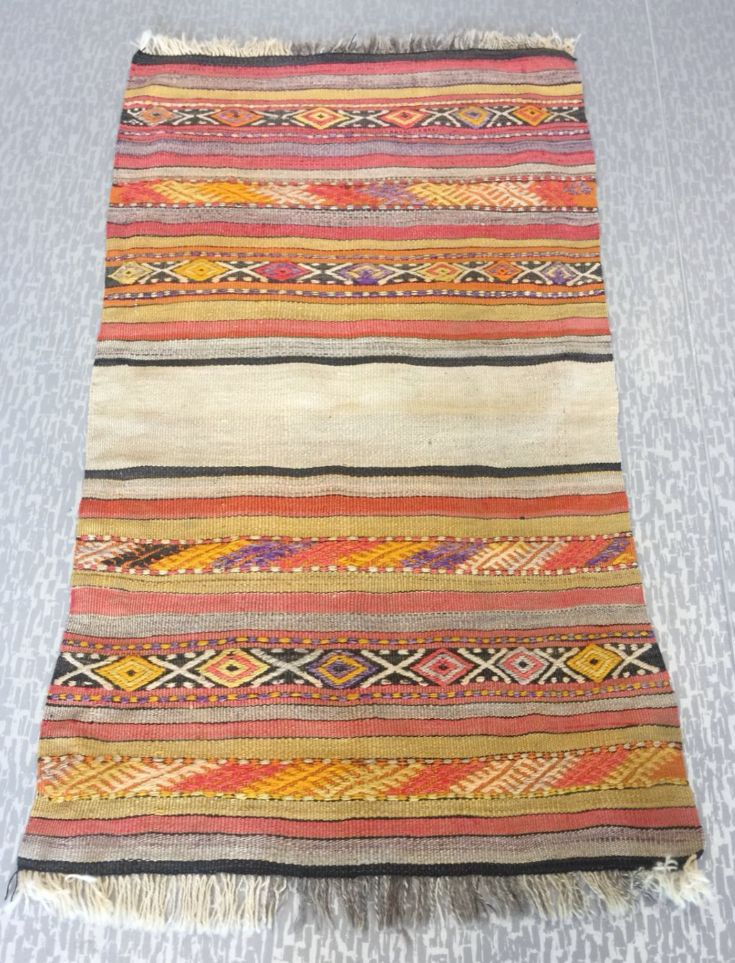 "TURKISH KILIM RUNNER, 112 x 65 cm ( 44 "" x 25 "" )"