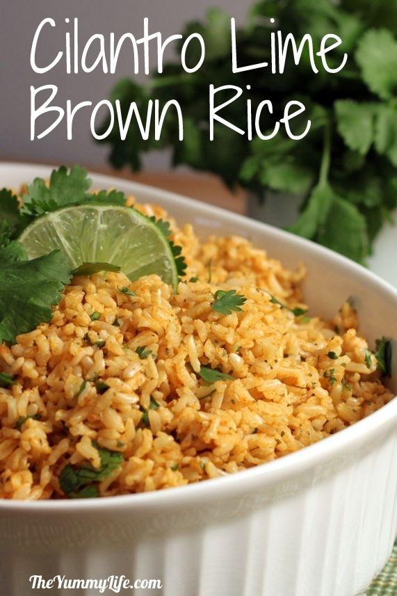 rice, vegetable broth (preferably low-sodium), garlic, fresh lime juice, olive oil,  salt, oregano (Mexican preferred), cumin, white pepper, cilantro