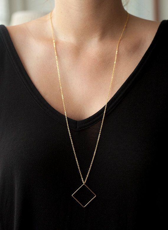 Erklärung Halskette geometrische Halskette von SincerelyDelightful