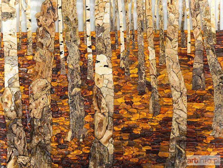 Lucjan MYRTA ● Pejzaż lasu brzozowego, 1998 r. ●