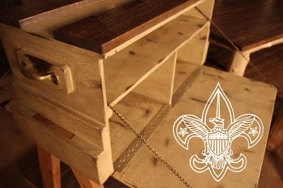 The Boy Scouts of America contacted Rocky Top to build custom log tables, log apparel racks and log fixtures for multiple scout shops nationwide. Each piece was custom designed to meet brand identity and functionality requirements.