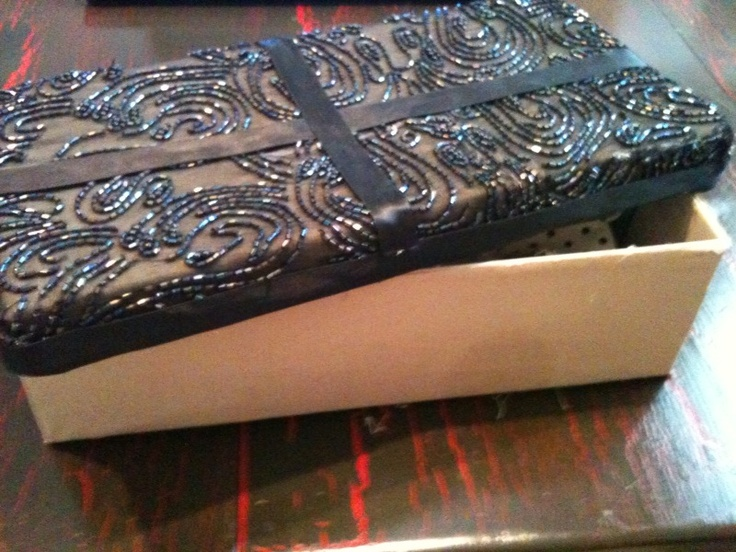 Elegant Decorate Shoe Boxes For Storage. I Made This One Out Excess Material From A  Prom