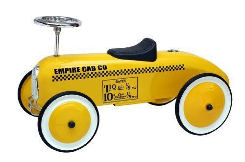 Kids Ride On Car Cycle Taxi Cab Foot to Floor Children Race Vintage Retro Yellow #MorganCycle