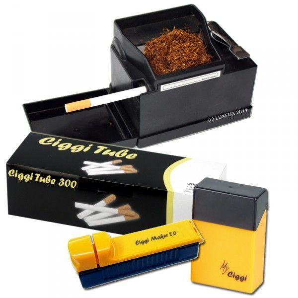 elektrische stopfmaschine powermatic 2 + ciggi starterset mit stopfmaschine 300 hülsen und ciggi box