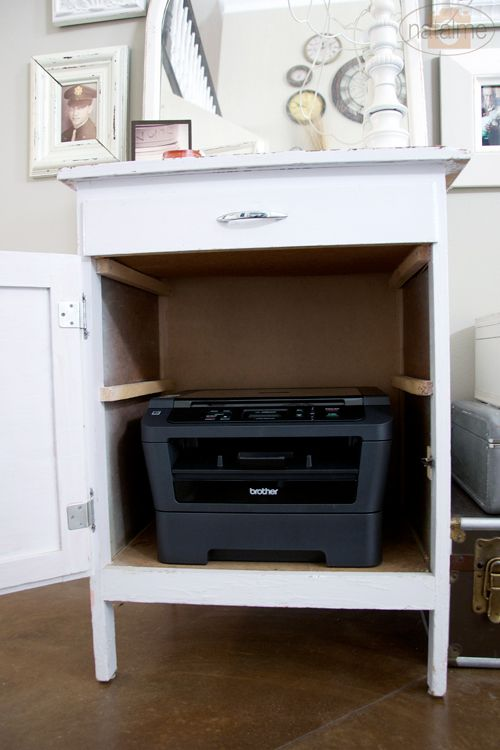 Printer storage 25 pinterest for Bureau of the hidden ones