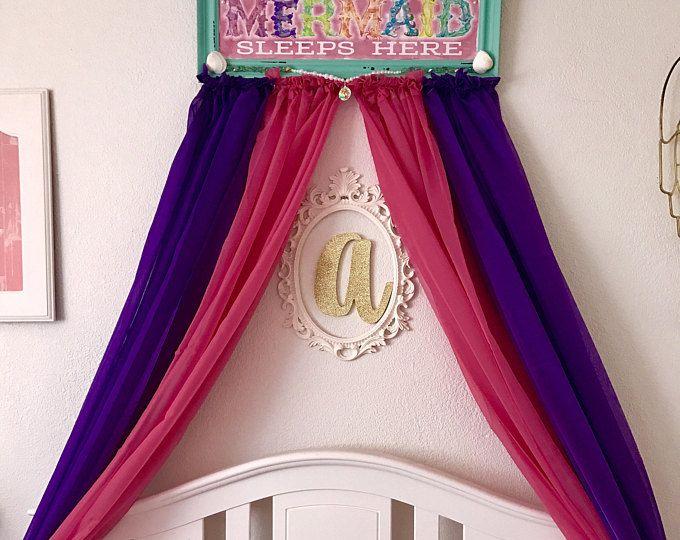 Dosel de cuna, decoración de la pared princesa sirena