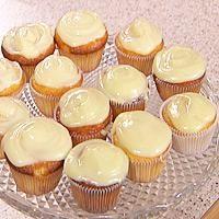 Sitronmuffins med hvit sjokoladekrem -