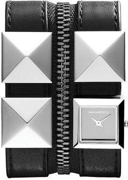 KARL LAGERFELD Karl Zip Watch, 17.5mm on shopstyle.com.au