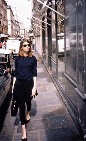 Navy & Black, great combo. Sophia Coppola
