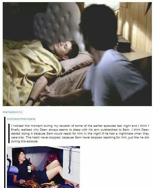 Supernatural - the boys reaching for each other - Gah!! Why do they do this to us?