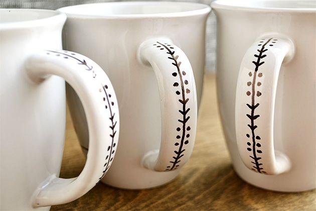 DIY Sharpie Mugs #handmade