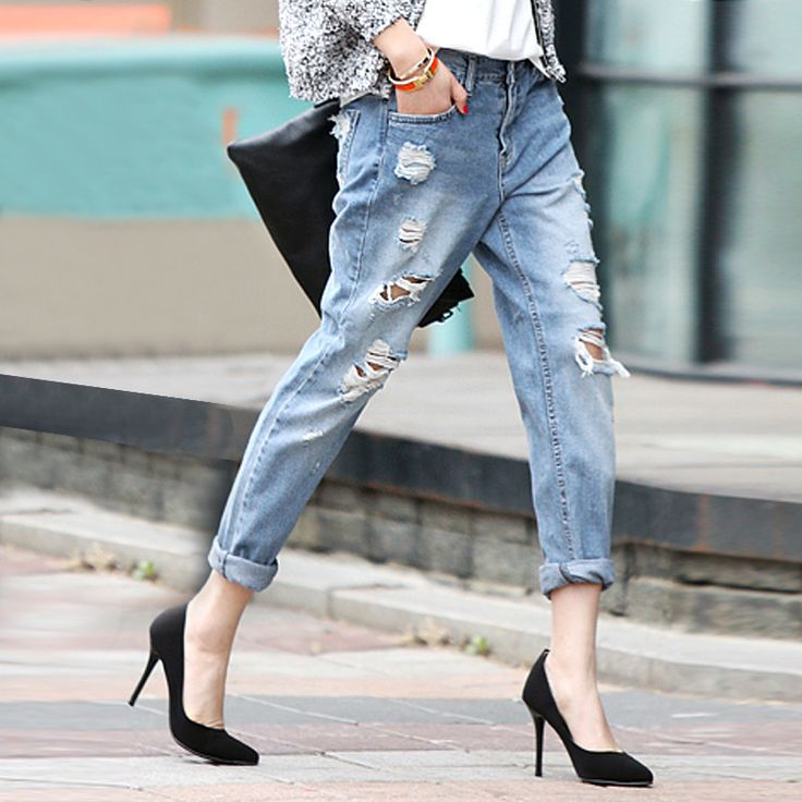 1000  ideas about Ripped Jeans For Women on Pinterest | Jeans for