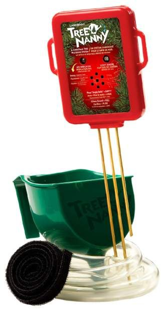 The Tree Nanny tree-watering system monitors your Christmas tree and helps keep it from going dry.
