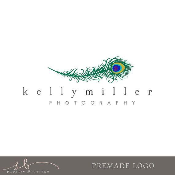 Premade Photography Logo  Simple Peacock Logo  by sbpaperdesign, $25.00