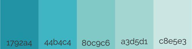Gamas de azul