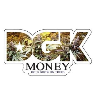 DGK Skateboards <br> DGK Money Trees Sticker