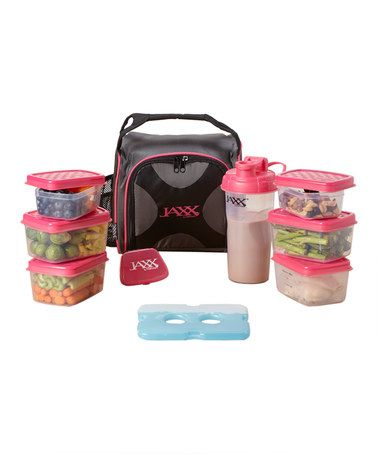 Loving this Pink Portion Control Fuel Pack Container Set on #zulily! #zulilyfinds
