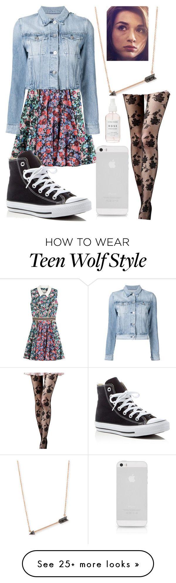 """Teen Wolf: Allison Argent"" by jordan-mettam on Polyvore featuring Mary Katrantzou, 3x1, Converse and Sydney Evan"