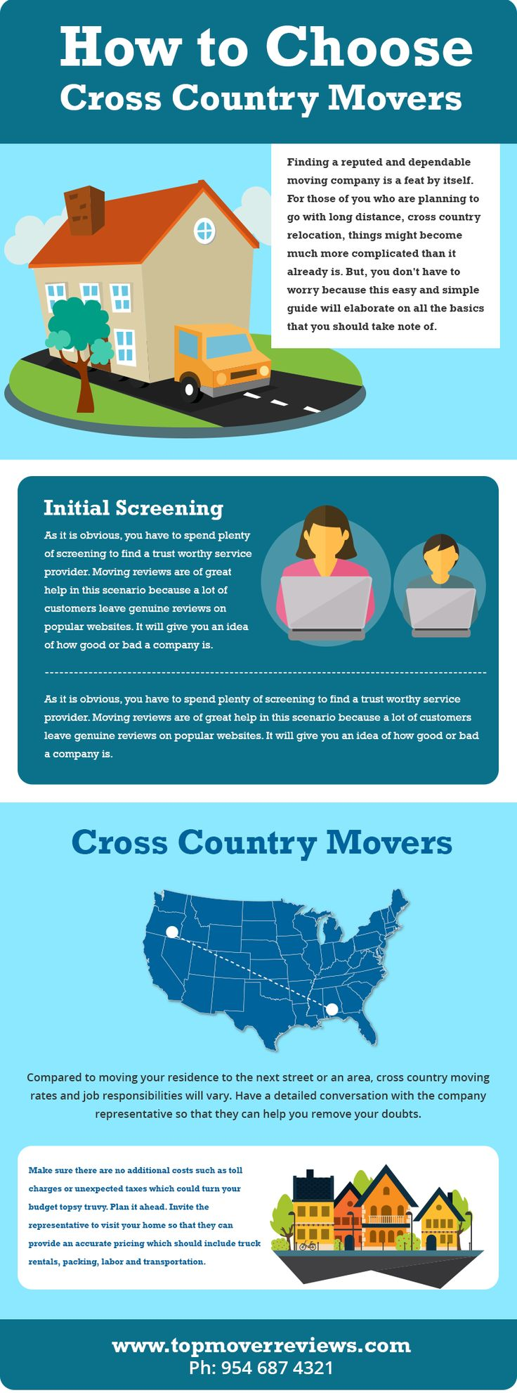 How to choose cross country movers in your city. Reading reviews on movers is the best way to find cross country moving company for your moving needs. http://topmoverreviews.com/how-to-choose-cross-country-movers