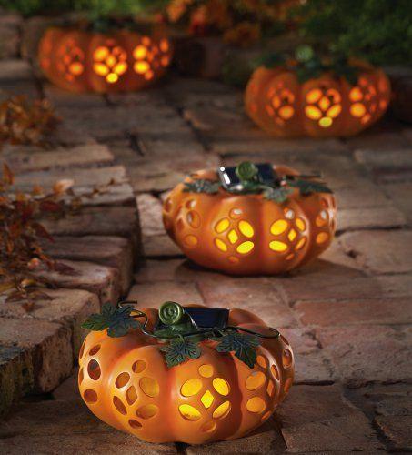 solar lighted decorative garden pumpk outdoor halloween decorationsfall decorationshalloween - Halloween Fall Decorations