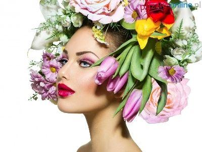 Wianek, Kobieta, Kwiaty, Anna Subbotina