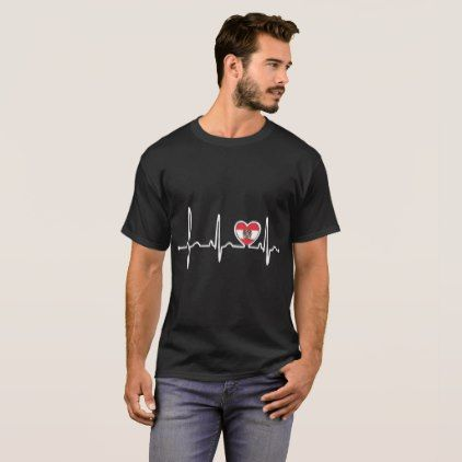 #country - #Austria Country Flag Heartbeat Pride Tshirt