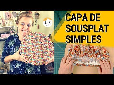 Capa para Sousplat Simples e Dupla face - Tutorial Fácil - YouTube