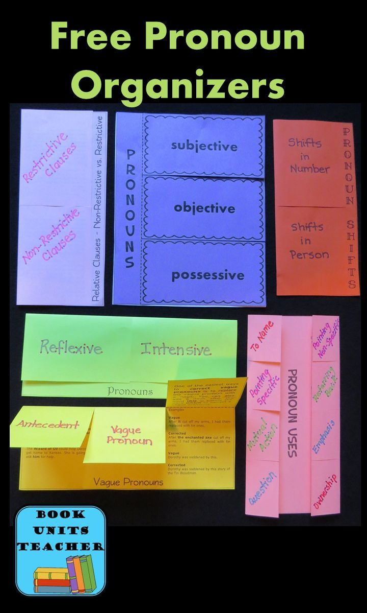 Check out these FREE foldable graphic organizers. They'll make teaching pronoun usage both easy and fun!
