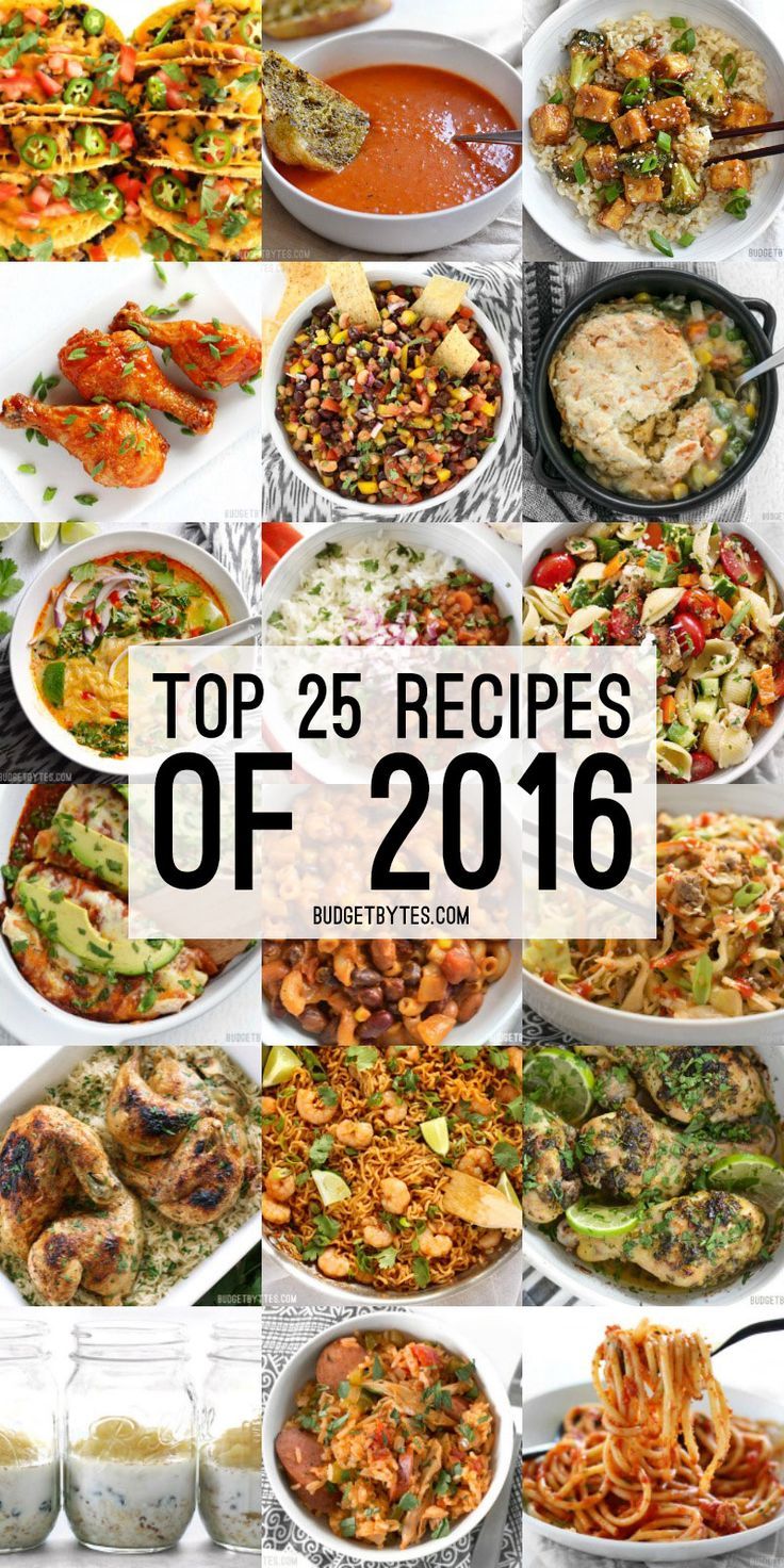The Top 25 Recipes of 2016 from BudgetBytes.com