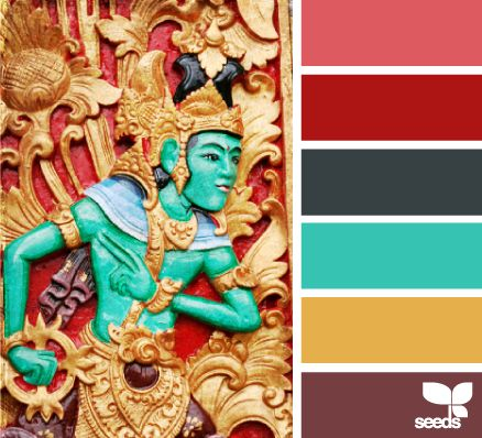 Since the deep red is the color I'm stuck with on all the walls in my apartment... I'm bringing in turquoise.