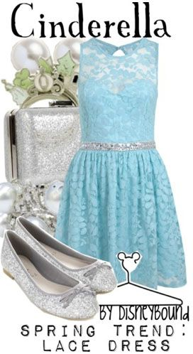 Cinderella Spring Trend: Lace Dress by DisneyBound .