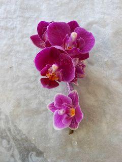 corsage med mini orkide til barn