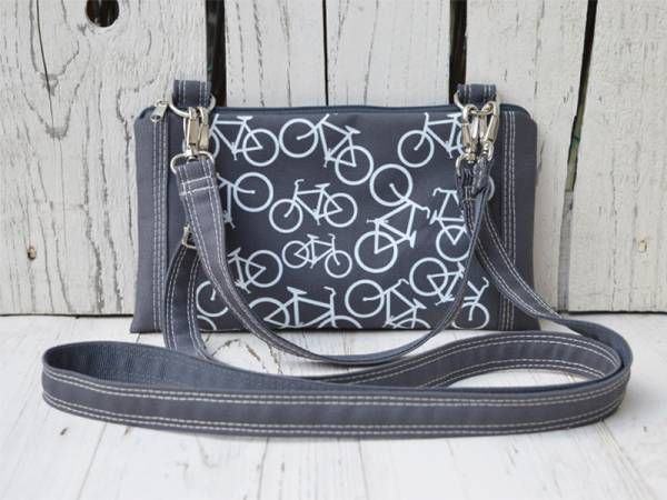 Grey Canvas with Printed Bike