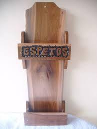 Resultado de imagem para porta espeto em madeira rustica