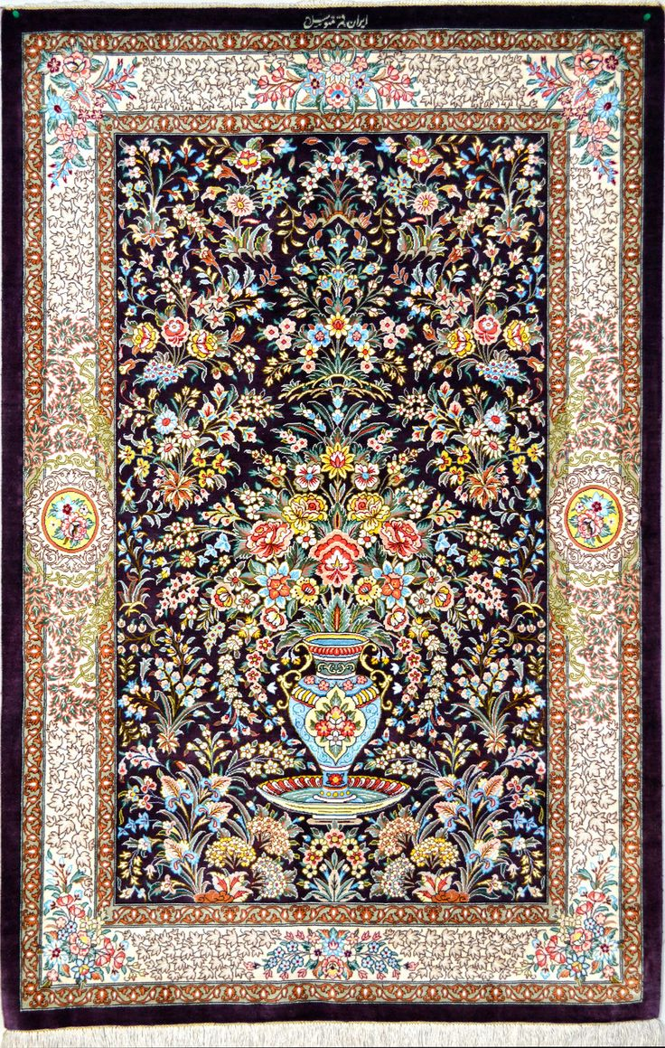 Iranian Qum Silk Persian Rugs are Great Picks for Home Decoration ...