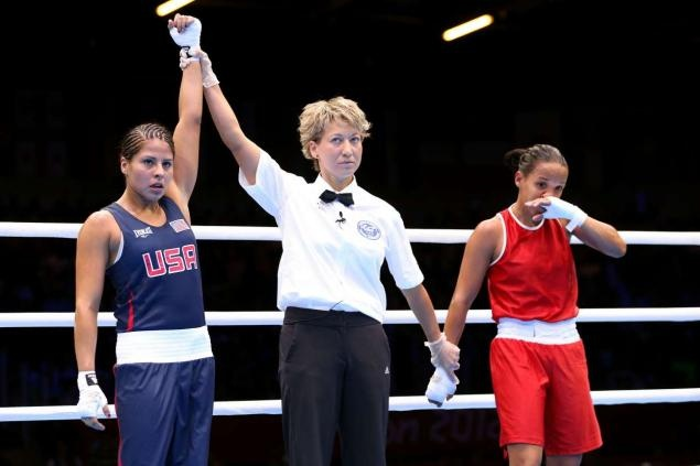 Marlen Esparza becomes first American woman to win Olympic boxing match    Read more: http://www.nydailynews.com/sports/olympics-2012/marlen-esparza-american-woman-win-olympic-boxing-match-guaranteed-bronze-medal-article-1.1129896#ixzz22pUvs7yw