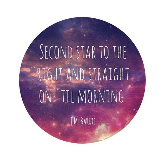 Sad Tumblr Quotes About Love: Peter Pan Galaxy Print