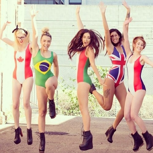 #Canadian flag swimsuit by Black Milk. #Canada