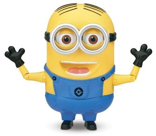 Despicable Me Minion Dave Talking Action Figure Sounds Phrases Funny Kids Game #Thinkway #Toys #Minion