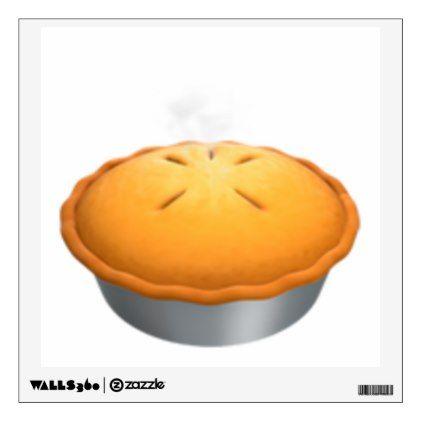 Pie - Emoji Wall Sticker - walldecals home decor cyo custom wall decals