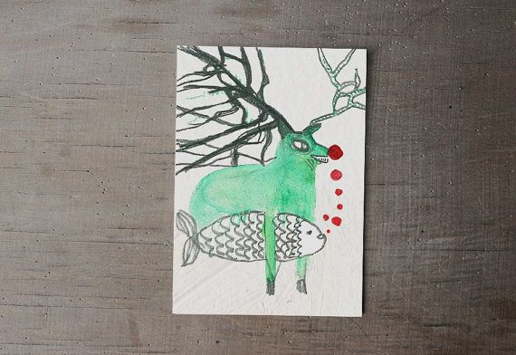 new years eve card | christmass card set | illustrated card |