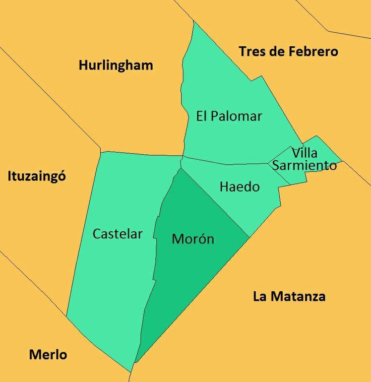 Mapa de Morón . Mapa de Morón con todas sus localidades