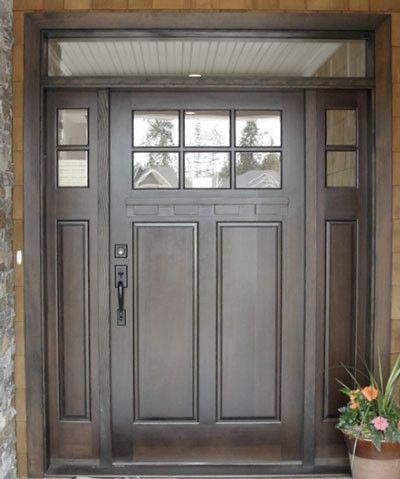 Best 25 entry door with sidelights ideas on pinterest exterior doors with sidelights entry - Black craftsman front door ...