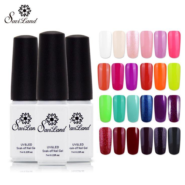 Saviland 1 unids Barnices UV Gel de Color de Esmalte de Gel Empapa de Larga Duración 29 Colores de Uñas de Gel Profesional Del Clavo Del LED polaco