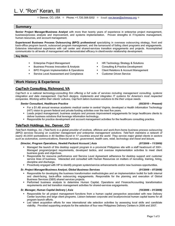 Technical Project Manager Resume 10 11 Project Management