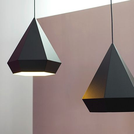 Diamond Pendant Lamp - Black - alt_image_two